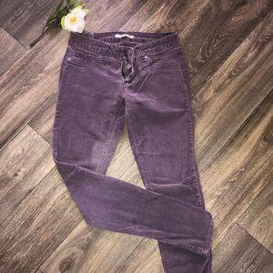 Purple corduroy leggings